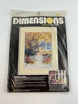 Dimensions Garden Gate by Diane Clapp Bartz No Count Cross Stitch Kit, 1988 - $16.09