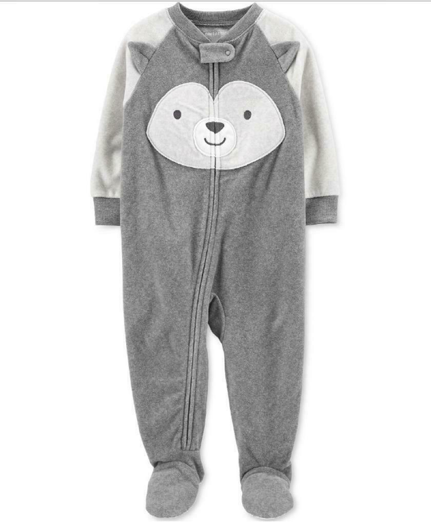 Carter's Baby Boys 1-Pc. Animal-Face Fleece Footed Pajamas, choose size  - $12.00