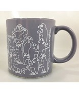 Taylor Ng Penguin Orgy Naughty Coffee Mug Cup Gray 1979 Made in Japan 8 oz  - $31.85