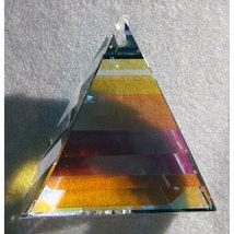 Swarovski 35mm Crystal Pyramid Dangle Prism image 2