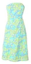 Lilly Pulitzer Strapless TieBack Dress 8 M Pastel Print Boning Lined Isl... - $73.38