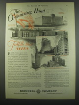 1930 Grinnell Company Ad - The organizing Hand fulfills their needs - $14.99
