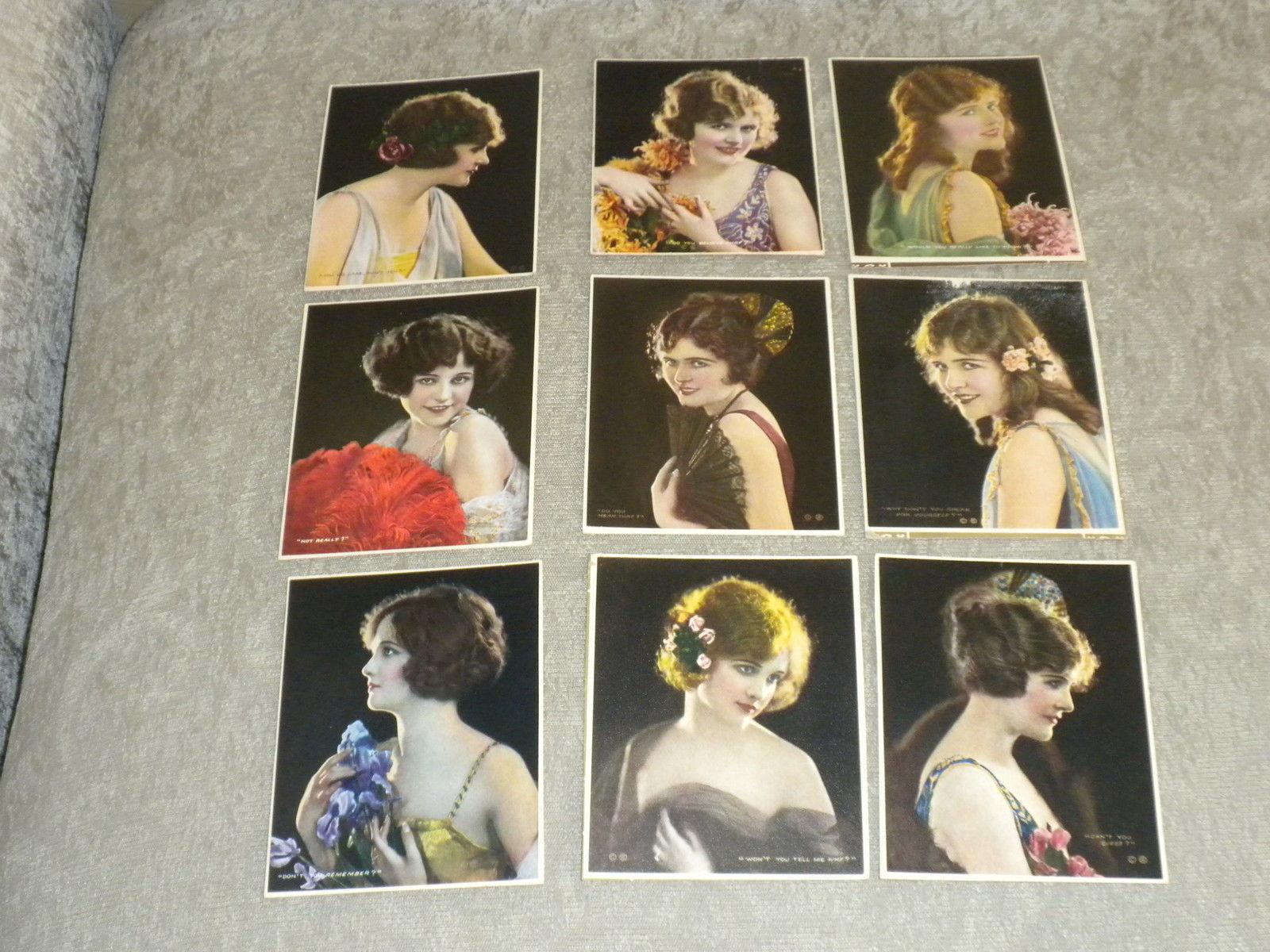 10 advertisg color photo cards of Women w quotes c1915 Osborne Co Newark, NJ VG+