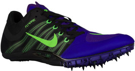 New Nike Mens Zoom JA Fly 2 Track Shoes Spikes FiercePurple/Black/Lime M... - $75.00