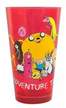 Adventure Time TV Series Characters Group Red Tinted 16 oz Pint Glass NE... - $6.89