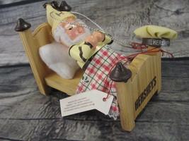 Hershey's Kurt S Adler Elf Sleeping in Bed Tree Ornament Christmas Holiday - $6.78