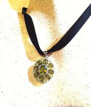 Vintage Originale Peridoto Verde Argento Sterling 925 Collana - $163.35
