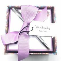 Vera Bradley Paisley In Paradise Note Cube & Pen - $17.09