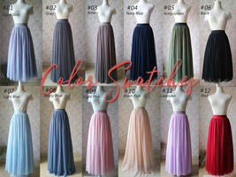 Tulle TUTU Color chart / Tulle Color Swatches / Wedding Tutu - Dressromantic