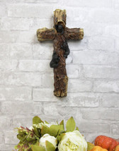 Rustic Western 3 Playful Climbing Black Bears Textured Tree Wall Cross D... - $28.99