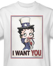 Betty boop i want you boop oop a doop for sale online graphic 2 tee bb730 at thumb200