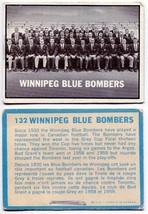 1961 Topps Winnipeg Blue Bombers Team Card #132 - $5.22