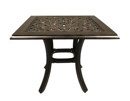 Outdoor end table set of 2 patio tables pool side accent cast aluminum furniture image 2