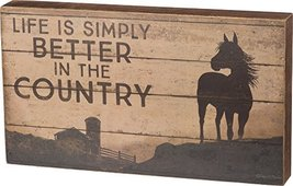 Primitives by Kathy Life Is Simply Better In The Country Box Sign,Multi-... - $9.98