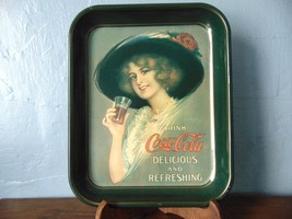 Coca-Cola Tray Gibson Girl Drink Coc-Cola Delicious And Refreshing - $22.50