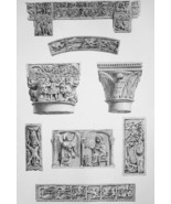 ITALY Pavia San Michele Maggiore Interior Details - SUPERB 1843 Antique ... - $22.46