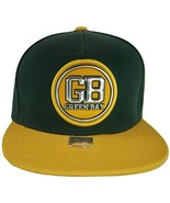 Green Bay GB Patch Style Adjustable Snapback Baseball Cap (Green/Gold) - $13.95