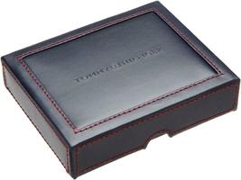 Tommy Hilfiger Men's Premium Leather Wallet Double Billfold Chocolate 31TL13X051 image 5