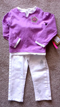 Girl's Size 3T 3 T Years Two Piece Purple Floral Sonoma Top, NWT OKB Whi... - $8.00