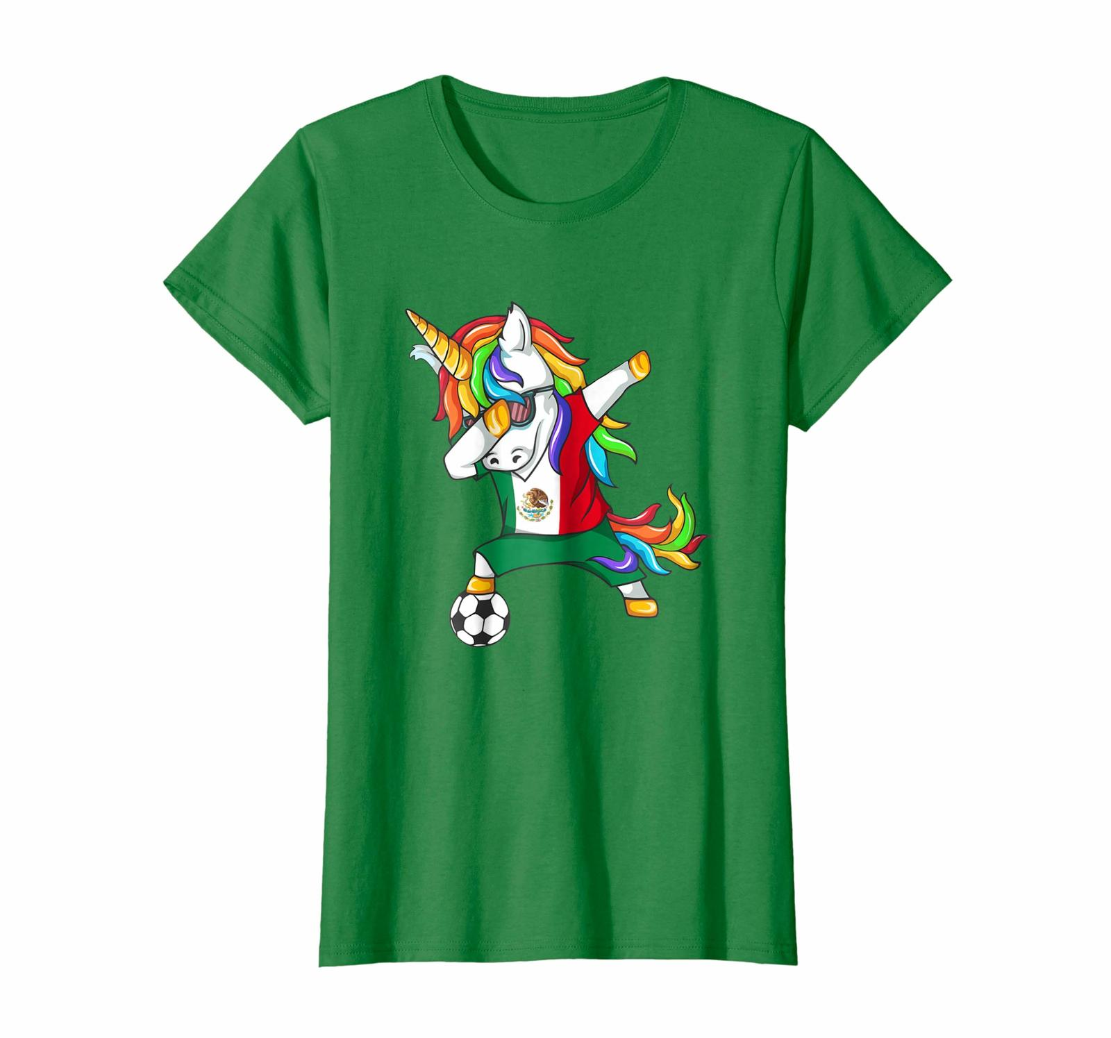 New Shirts - Dabbing Soccer 2018 Unicorn Mexico T-Shirt Wowen