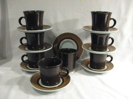 FRANCISCAN EARTHENWARE NUT TREE CUPS & SAUCERS - EIGHT SETS - $38.65