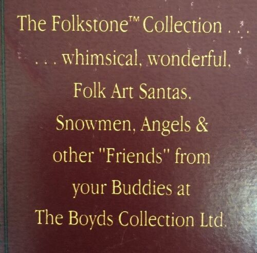 Boyd's Bears Folkstone Collection Illumina Angel Of Light 1995 Figure 28203 Box