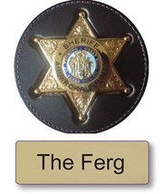 "THE FERG LONGMIRE NAME BADGE & SHERIFF 3"" BUTTON HALLOWEEN COSTUME MAGNE... - $15.83"