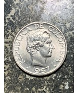 1967 Colombia 50 Centavos Lot#Z6514 High Grade! Beautiful!  - $5.00