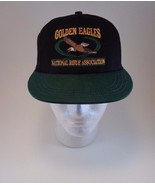 GOLDEN EAGLES NRA Black Green Cap Hat One Size National Rifle Associatio... - $19.34