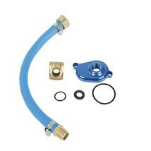 6.0L Powerstroke Oil Cooler Flush Kit with Blue Aluminum Flush Adapter f... - $48.03