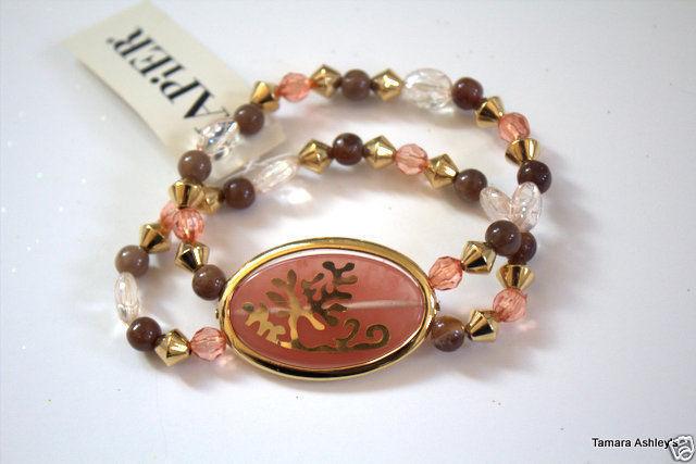 Napier Goldtone Spring Blossom Stretch Bracelet MSRP $34.00 New With Tag image 4