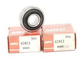 LOT OF 2 NIB MRC 87013 BEARINGS 13MM BORE 32MM OD 12.7 WIDTH SINGLE SEAL