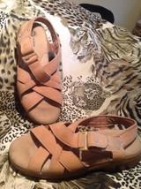 NEW EARTH SHOE Womens Sandals CEDAR HAVANA SZ 7.5M LIGHT BROWN NICE - $23.95