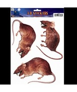 Scary Dimensional 3D-RAT RODENT-Window Sticker Cling Halloween Horror De... - $3.93
