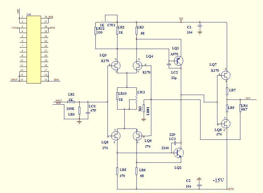 Modular J-FET preamplifier JC-2 w/JFET and 50 similar items