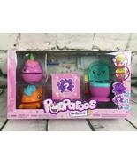 Pooparoos Familyroos Orange and Purple Pet Figures, Toilet & Surprise Fo... - $14.84