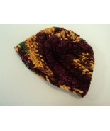 Handcrafted Baby Hat Green Gold Brown Textured 100% Merino Wool Unisex K... - $25.76