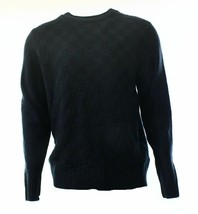 Geoffrey Beene Men's Sweater Deep Black Basketweave Crewneck Knit Pullover - $27.99