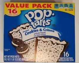 Kellogg's Pop Tarts Frosted Cookies & Creme Toaster Pastries Value Pack - $19.79