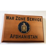CIA War Zone Service AFGHANISTAN 3D Emblem Beveled Edge Wall / Desk Plaque - $49.49