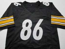 HINES WARD / AUTOGRAPHED PITTSBURGH STEELERS BLACK CUSTOM FOOTBALL JERSEY / COA image 2