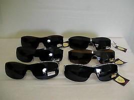 KHAN MENS NEW Sunglasses SPORTY WRAP BIKER SHADES 2 TONE TOP LINE - $10.62
