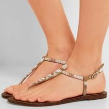 Sam Edelman tan beaded Gail thong sandals - $36.63