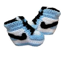 13. Air J 1  High 'Uni Blue' Baby Crochet Shoes - $24.99+