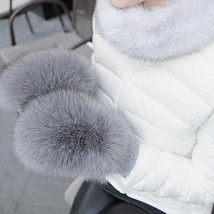 2018 New Women Genuine Fox Fur Covered Winter Mittens Real Fox Fur Gloves - $49.99