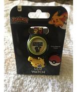 Pokemon Pikachu Pokeball Slide Charm LCD Plastic Quartz Digital Casual W... - $13.36