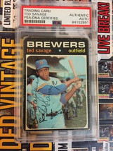 1971 Topps Ted Savage #76 Signed Autographed PSA/DNA Slabbed - $19.27