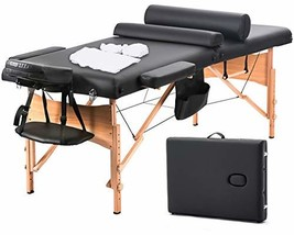 Massage Table Portable Facial SPA Bed W/Sheet+Cradle Cover+2 Bolster+Hanger - $144.09