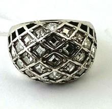 Brighton Life's Journey Ring Silver Finish, Swarovski Crystals J61812 Size 6 New - $55.10