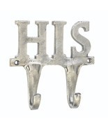 """HIS"" WALL HOOK 5.75"" x 1.5"" x 5.5"" SHOW HIM WHERE TO HANG HIS COAT, TOW... - £9.68 GBP"